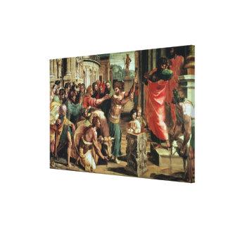 The Sacrifice at Lystra (cartoon for the Sistine C Canvas Print