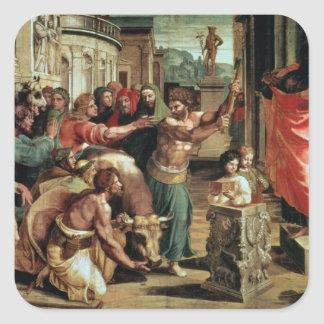 The Sacrifice at Lystra (cartoon for the Sistine C Square Sticker