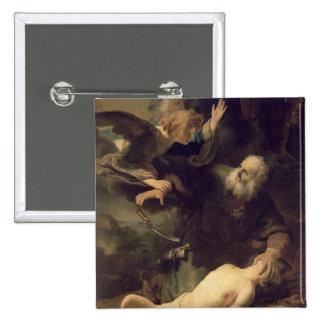 The Sacrifice of Abraham, 1635 Pinback Button