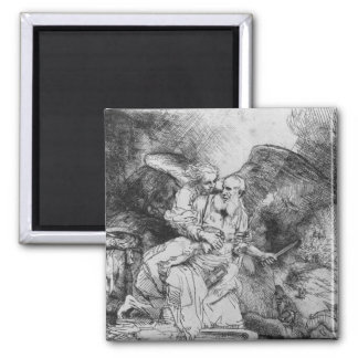The Sacrifice of Abraham, 1645 2 Inch Square Magnet