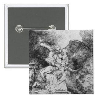 The Sacrifice of Abraham, 1645 Pinback Button