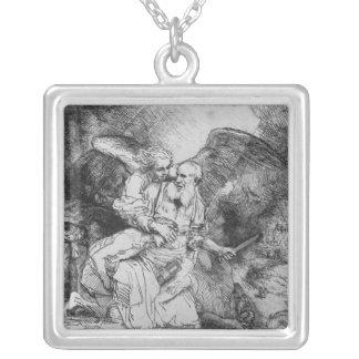 The Sacrifice of Abraham, 1645 Square Pendant Necklace