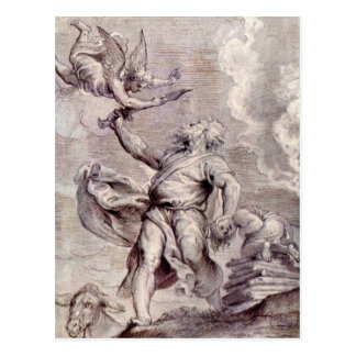 The sacrifice of Abraham by Paul Rubens Postcards