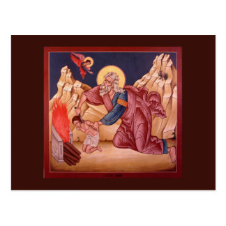 The Sacrifice of Abraham Prayer Card