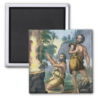 The Sacrifice of Cain and Abel, from a bible print Magnet