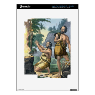 The Sacrifice of Cain and Abel, from a bible print iPad 3 Skins