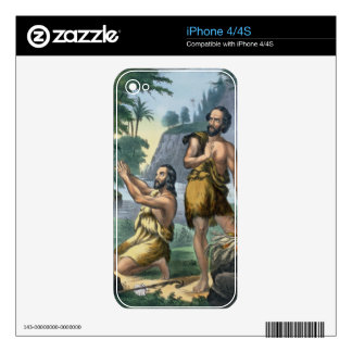 The Sacrifice of Cain and Abel, from a bible print Skin For iPhone 4S