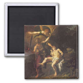 The Sacrifice of Isaac, 1616 2 Inch Square Magnet