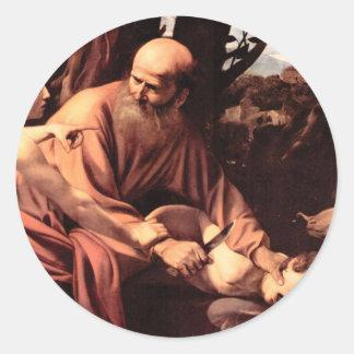 The sacrifice of Isaac Classic Round Sticker