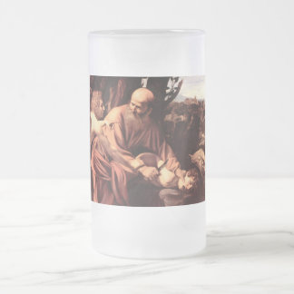 The sacrifice of Isaac 16 Oz Frosted Glass Beer Mug