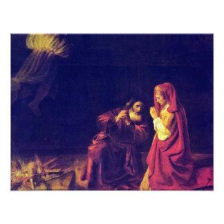 The Sacrifice Of Manoah By Rembrandt Harmensz. Van Personalized Invitation