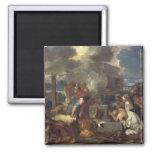 The Sacrifice of Noah, c.1640 2 Inch Square Magnet