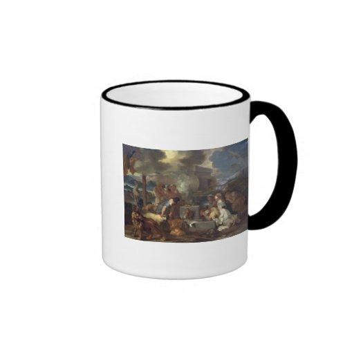 The Sacrifice of Noah, c.1640 Ringer Coffee Mug