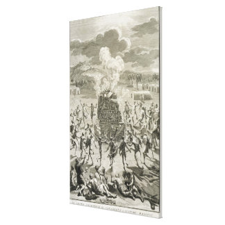 The Sacrifice to Quitchi-Manitou, or The Great Spi Canvas Print