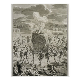 The Sacrifice to Quitchi-Manitou, or The Great Spi Poster
