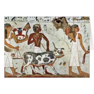 The Sacrificial Animal By Maler Der Grabkammer Des Greeting Card