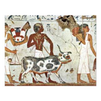 The Sacrificial Animal By Maler Der Grabkammer Des Custom Invitation
