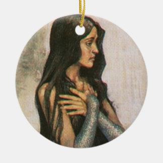 The Sad Mermaid Ceramic Ornament