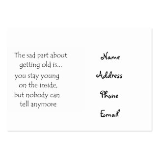 The sad part about getting old is-business cards large business cards (Pack of 100)
