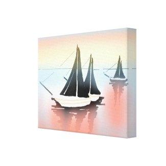 The Sailboats Canvas Print