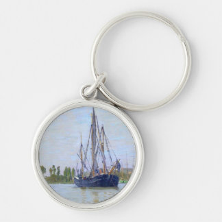 The Sailing Boat by Claude Monet Keychain