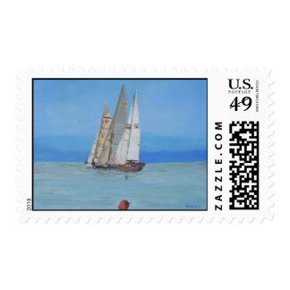 The sailing regatta stamps
