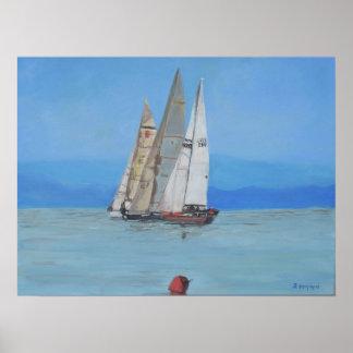 The sailing regatta poster