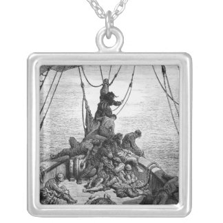 The sailors becalmed and tormented by thirst square pendant necklace