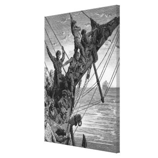 The sailors see in the distance a ghostly ship canvas print