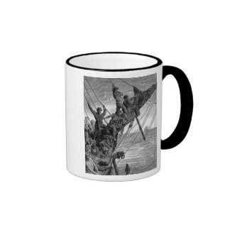 The sailors see in the distance a ghostly ship coffee mugs