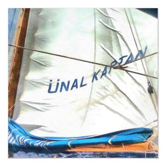 The Sails Of Unal Kaptan Magnetic Card