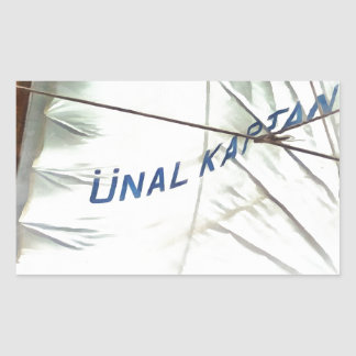 The Sails Of Unal Kaptan Rectangular Sticker