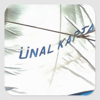 The Sails Of Unal Kaptan Square Sticker