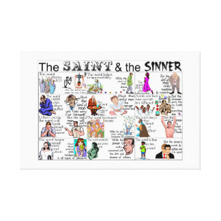 THE SAINT AND THE SINNER CANVAS PRINTS