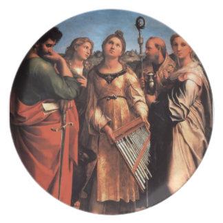 the Saint Cecilia Altarpiece Dinner Plate