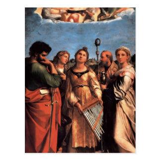 the Saint Cecilia Altarpiece Postcard
