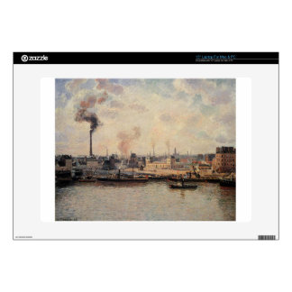 """The Saint Sever Quay, Rouen by Camille Pissarro Decals For 15"""" Laptops"""