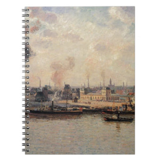 The Saint Sever Quay, Rouen by Camille Pissarro Notebook