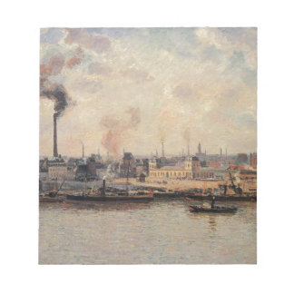 The Saint Sever Quay, Rouen by Camille Pissarro Notepad