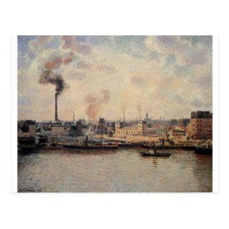 The Saint Sever Quay, Rouen by Camille Pissarro Postcard