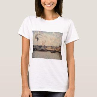 The Saint Sever Quay, Rouen by Camille Pissarro T-Shirt