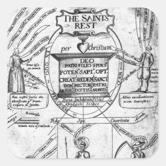 The Saints' Everlasting Rest' Square Sticker