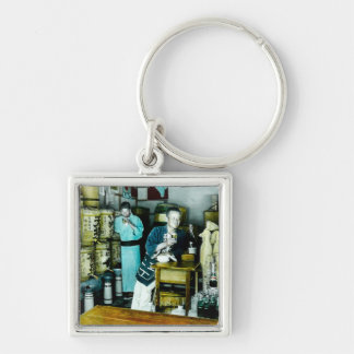 The Sake Merchants of Old Japan Vintage Hand Tint Keychain