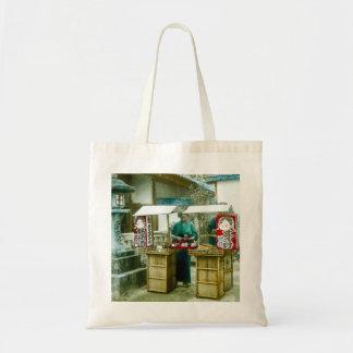 The Sake Seller in Old Rustic Japan Vintage Tote Bag
