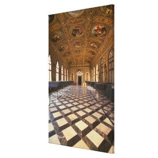 The Sala Dorata, built 1537-88 (photo) Canvas Print