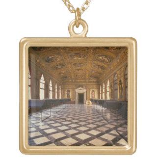 The Sala Dorata, built 1537-88 (photo) Gold Plated Necklace