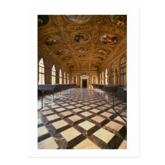 The Sala Dorata, built 1537-88 (photo) Postcard