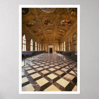 The Sala Dorata, built 1537-88 (photo) Poster