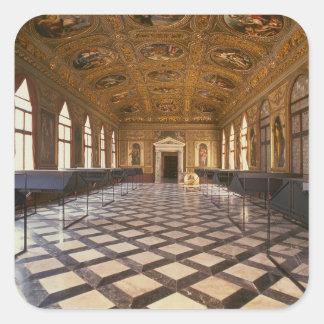 The Sala Dorata, built 1537-88 (photo) Square Sticker