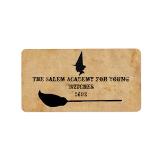 The Salem Academy for Young Witches Personalized Address Label